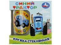 Мягкая игрушка Синий трактор. Кружка в подарочной коробке 250мл. стекло Умка в кор