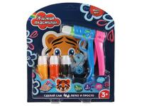 Мягкая игрушка Набор д/творчества жидкий пластилин MultiArt (4цвета+стайлер+2насадки+форма тигр) в кор
