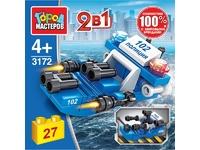 Мягкая игрушка Конструктор водная полиция: катер 2в1