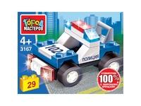 Мягкая игрушка Конструктор полицейская машина