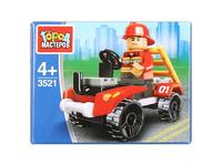 Мягкая игрушка Конструктор пожарник на машине